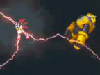 Shadow uses Chaos Blast on the Yellow Axem Ranger