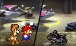 Basilisx faces off against Mario and Luigi