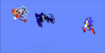 Mario and Sonic against Mecha Sonic in the Minus World