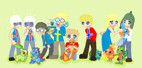 Satw nordic and their pokemon by cartoon gal-d3l5g2y