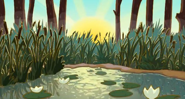 Картинка болото из сказок