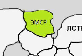 Карта земель ЭМСР на 21-ое января 2014-ого года