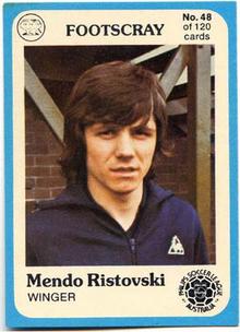 Mendo Ristovski JUST Scanlens from OzFootball