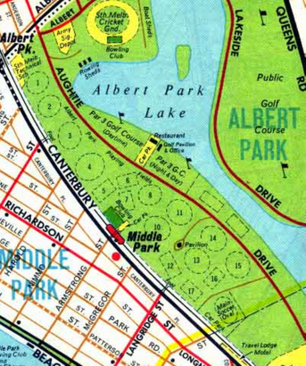 Melway edition 1 1966 Middle Park precinct