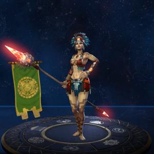 Awilix Banhada Pela Lua no Jogo
