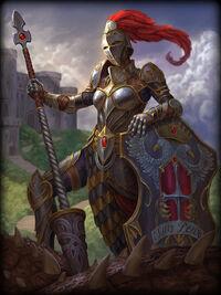 Athena knight-of-wisdom Card