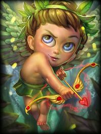 Cupid ForestNymph Card