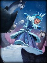 Scylla snow-day Card