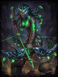 Medusa crystal-gaze Card