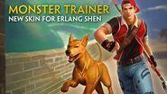 SMITE - New Skin for Erlang Shen - Monster Trainer