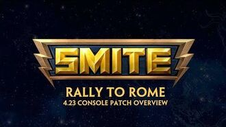 SMITE - 4.23 Console Patch Overview - Rally to Rome