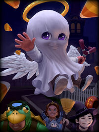 Cupid trick-or-treat Card