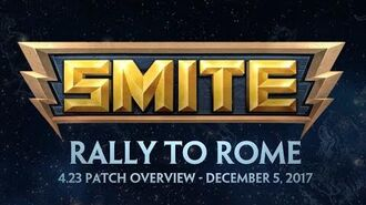 SMITE - 4.23 Patch Overview - Rally to Rome (December 5, 2017)