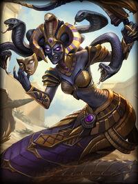 Medusa queen-cobra Card