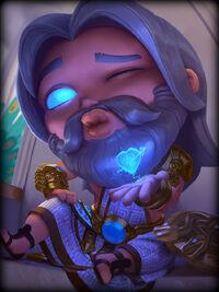 Zeus zappy-chibi Card
