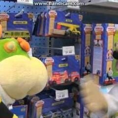 Bowser Jr and Chef Pee Pee in Toys R Us