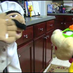 Sheila Perkin and Chef Pee Pee