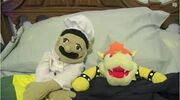 Chef Pee Pee and Bowser in bed