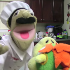 Chef Pee Pee yelling at Bowser