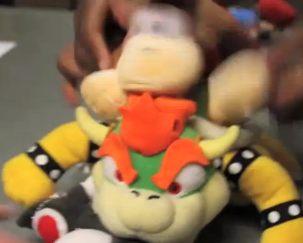 File:Diddy Kong attacks Bowser.png