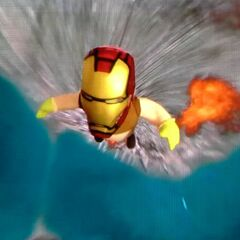 The Iron Shrek taking off from earth