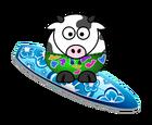 Surfer-cow