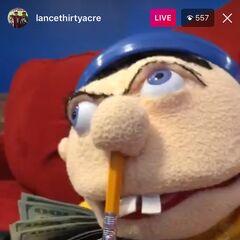 Jeffy in Instagram Live Video