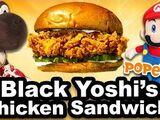Black Yoshi's Chicken Sandwich!
