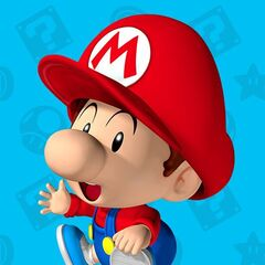 Mario as a baby