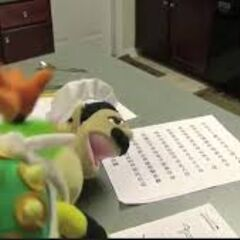 Bowser Junior and Chef Pee Pee doing homework