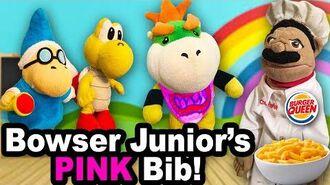SML Movie Bowser Junior's Pink Bib!