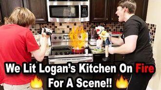 🔥 We Lit Logan's KITCHEN ON FIRE!!! *BTS* 🔥