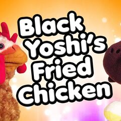 The title screen of Black Yoshi's Fried Chicken.