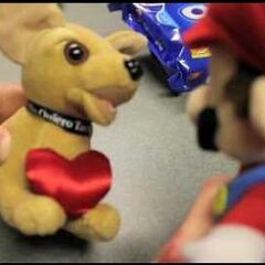 Mario talking to Taco Bell Chihuahua.