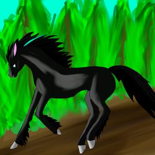 No, na poprzedniego konia nawet nie patrzcie! Eterne bije tamtego na głowę. Eterne jest moją koffaną postacią <3
