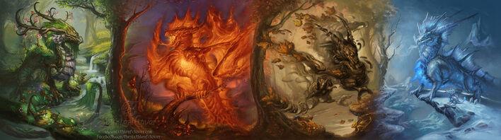 Dragons of seasons