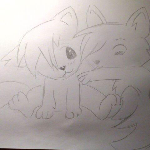 Dwa małe wilczki dla przyjaciółki