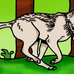 Mój pierwszy wilk jakiego namalowałam:p
