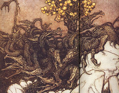 Arthur-Rackham-Dragon-Ladon