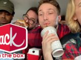 6 PEOPLE IN A TINY CAR - JACK IN THE BOX MUKBANG