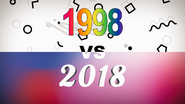 1998 VS 2018 title card