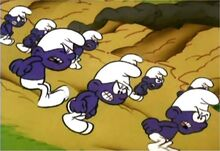 Swarm of Purple Smurfs