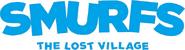 Logo smurfs the lost village white