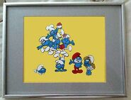 Smurfs-animation-cel-signed-Smurfette 1 NBC Bumpers