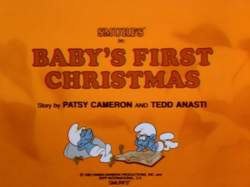 Baby's first xmas title card