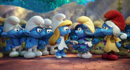Brainy, Hefty, Clumsy, Smurfette, Smurfblossom and Smurfwillow STLV
