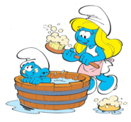 Smurfette and Baby 1