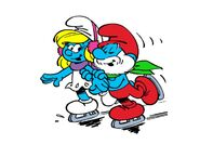 MySmurfyColoring Papa Smurf and Smurfette Ice Skating