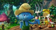 Farmer Smurf Discussion About Smurfette Skill