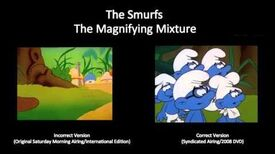 "The Smurfs - Goof from ""The Magnifying Mixture"""